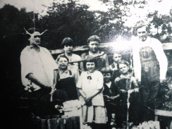 My great=grandmother Dicie and her children. She was a full blooded Cherokee Indian.