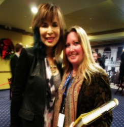 Meeting the cast of Days of Our Lives in the VIP Media Room, Pigeon Forge, TN 2015. My idol Lauren Koslow (Kate Roberts DiMera) 2015