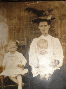 My great-grandmother Mallie Victoria and two of her children. I am named after her.