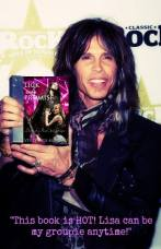 STEVEN TYLER AND MY BOOK pretend photo I created